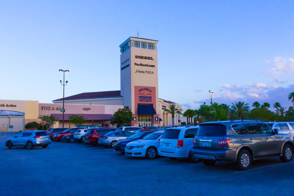 The shopping mall Orlando premium outlet