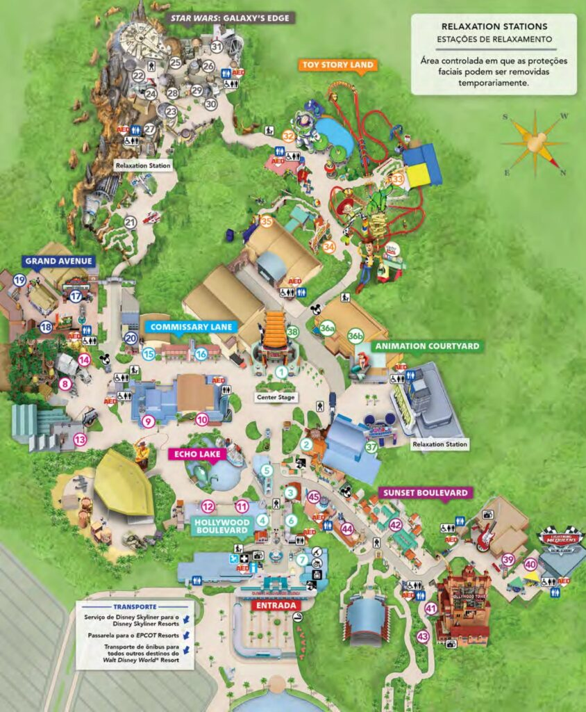 mapa hollywood studios